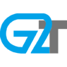 G2 Technologies Corp $gtoo clear vector logo in blue and grey.